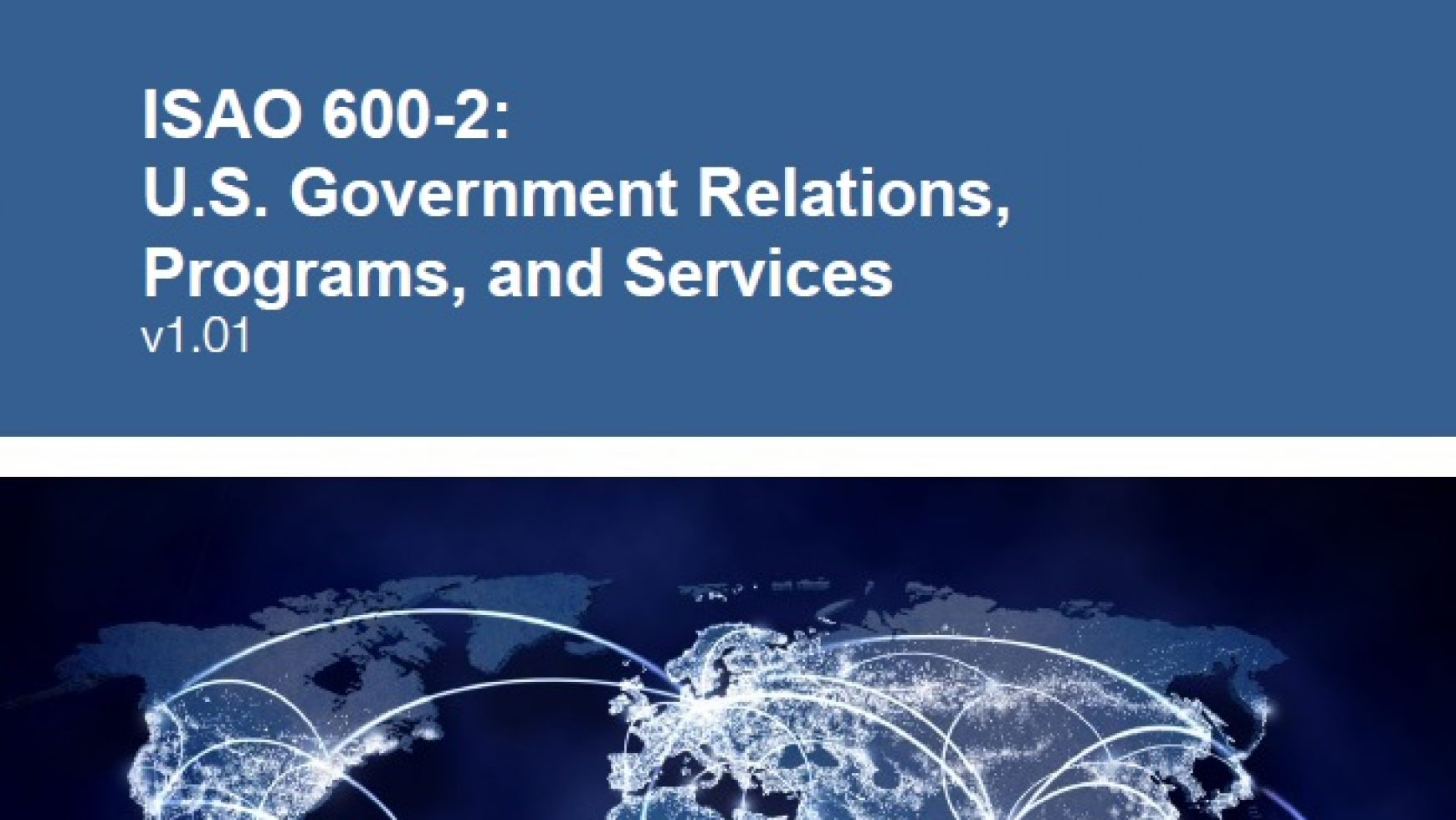 ISAO 600-2: US Government Relations, Programs, and Services