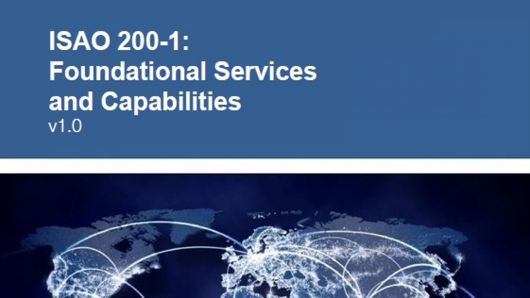 ISAO 200-1: Foundational Services and Capabilities